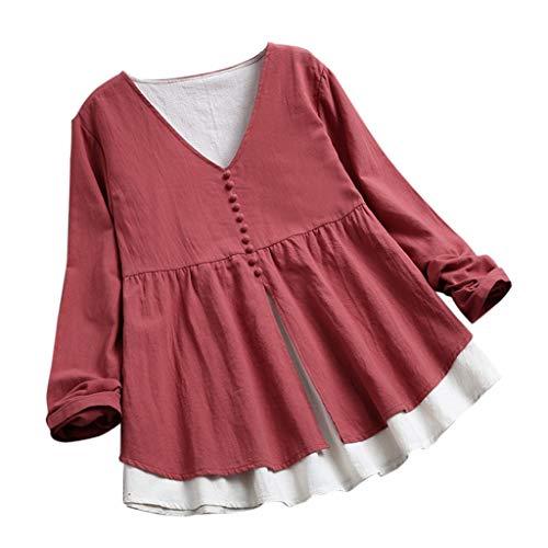 Asalinao Frauen-beiläufige Normallack-Taschen-Lange Hülsen-Knopfoberteile langes Minikleid Kleid - Handtücher Weiße Türkische