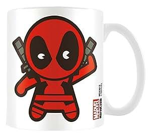 Kawaii, motivo: Deadpool Marvel-Tazza in ceramica con scritta, colore: multicolore