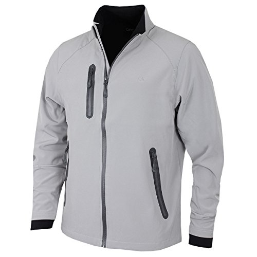 Calvin Klein Golf Herren Softshell Wind Barrier Jacket - Silber - XL -