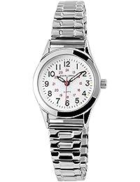 Excellanc llanc Mujer Analog Reloj de pulsera con mecanismo de cuarzo 170022000021y carcasa de metal con cordón Esfera de Color Plata Metal de Color Blanco Pulsera Ancho 14mm
