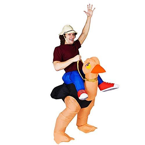 Strauß Aufblasbare Kinder Kostüm - Sikungjlk Aufblasbare Kleidung Kostüm Halloween Cosplay Aufblasbare Strauß Kostüm Kostüme for Erwachsene Einheitsgröße (Farbe : Adult, Größe : Einheitsgröße)