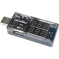 USB probador de cargador - SODIAL(R)Cargador USB medico USB Probador Detector corriente de carga Prueba de bateria suministro de corriente tension Amperimetro Voltimetro