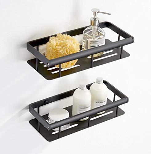FREEDROM Badregal Wandbehang WC-Abstellregal dreistufige Badablage Aluminium 2-Schicht-Duschraum Rahmen schwarz - Aluminium-rahmen Harz