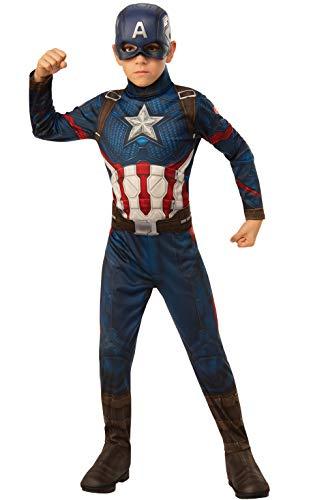 Rubie's Offizielles Avengers Endgame Captain America, klassisches Kinderkostüm, Größe S, Alter 3-4, Höhe 117 cm (Childs Captain America Kostüm)