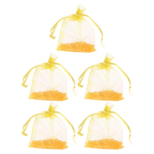 YoungerY (1 Packung mit 5 hängenden Duftperlen Aromatherapie-Kleiderschrank duftenden Beutelnetzgarnperlen - authentische Zitrone -