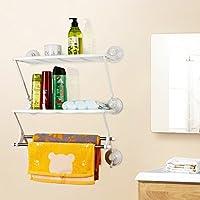 LUYIASI- Starke nahtlose Sauger umweltfreundliche praktische Regal-freie Stanz-Organisation Regal-Wand hängende Badezimmer-Toilette weiße doppelte Tuch-Zahnstange Bathroom Racks