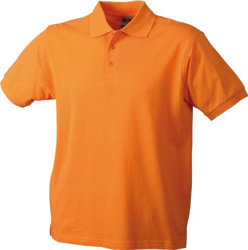 James & Nicholson Herren Poloshirt Orange - Orange - Orange