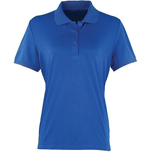 Premier Ladies Coolchecker Pique Polo Shirt Royal