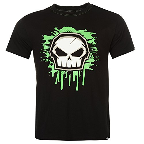 No Fear Herren Sportshirt Core Graph T-Shirt Kurzarm Rundhals Tee Top Bekleidung Schwarz L (Logo-print Top Tonale)