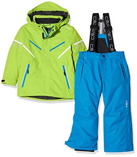 CMP 39w1844 - Conjunto de Chaqueta y pantalón de esquí para niño, Niños, Color Verde Lima, tamaño 140