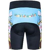 JPOJPO - Pantalones cortos de ciclismo para niños