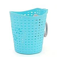 JTENGYAO 1 PCS Plastic Bathroom Kitchen Hanging Hook Storage Basket Holder, Blue