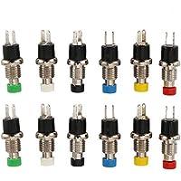 60 Stück Miniatur Taster Sortiment 6 Farben á 10 Stück Drucktaster Schließer