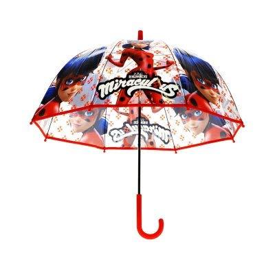 Disney-Ladybug Paraguas Transparente automático