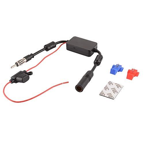 JunHEr Auto-AM-FM-Antenne Signalverstärker AM FM-DIN-Adapter Auto Antenne Signal Booster for DAB-Autoradio AH536 Elektronischen elektronisches Zubehör