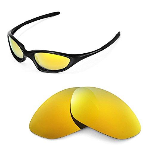 Walleva Ersatzgläser für Oakley XX/Old Twenty (Vor 2011 Version) Sonnenbrille - Mehrfache Optionen (24K Gold Mirror Zieht - Polarisierte)