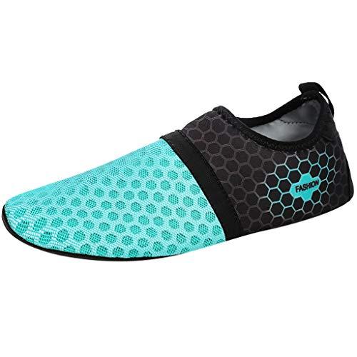 ockene Aqua Socken des Sommer Paares Strand Schwimmen Yoga Übungs Wasserschuhe(Himmelblau,45-46) ()