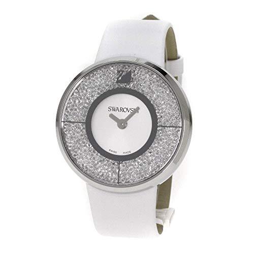 Swarovski Damen Analog Quarz Uhr mit Leder Armband 1135989