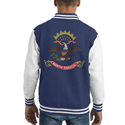 North Dakota State Flag Kid's Varsity Jacket -