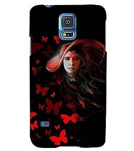 PRINTSWAG GIRL Designer Back Cover Case for SAMSUNG GALAXY S5