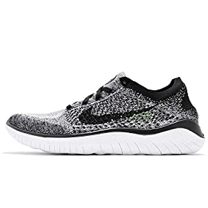 Nike Free RN Flyknit 2018, Chaussures de Fitness Homme, Multicolore (White/Black 101), 44.5 EU