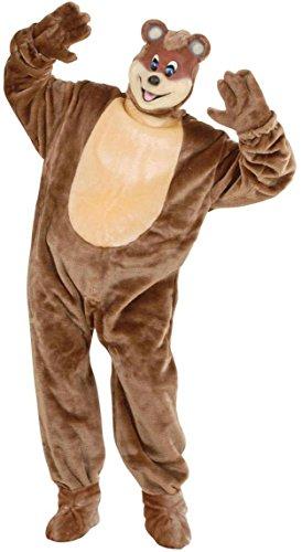 Widmann 4478B Plüsch Braun Bär Kostüm, One Size
