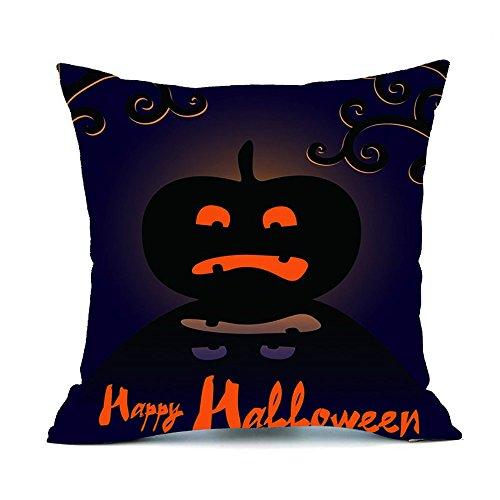Home Decor Halloween Baumwoll Kissen Fälle,FORH Niedlich muster gedruckte Flachs Sofa Kissenbezug gemütlich Auto Dekorationen Kissen Fälle Größe: 18