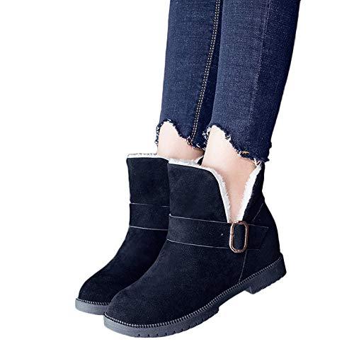 Stiefel Frauen TianWlio Winter Warm Schuhe Stiefeletten Boots Halten Schlüpfen Schneestiefel Weihnachten Damen Keile Schuhe Schneestiefel Wildleder Schnalle Stiefel Runde Kappe Halten Sie Warme Schuhe