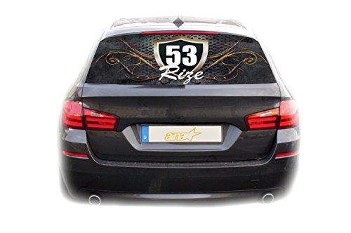 Preisvergleich Produktbild Auto KFZ Heckscheibe Fenster Aufkleber Rize 53 Türkiye Plaka