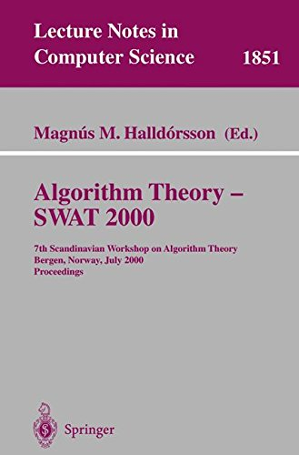 Preisvergleich Produktbild Algorithm Theory - SWAT 2000: 7th Scandinavian Workshop on Algorithm Theory Bergen,  Norway,  July 5-7,  2000 Proceedings (Lecture Notes in Computer Science,  Band 1851)