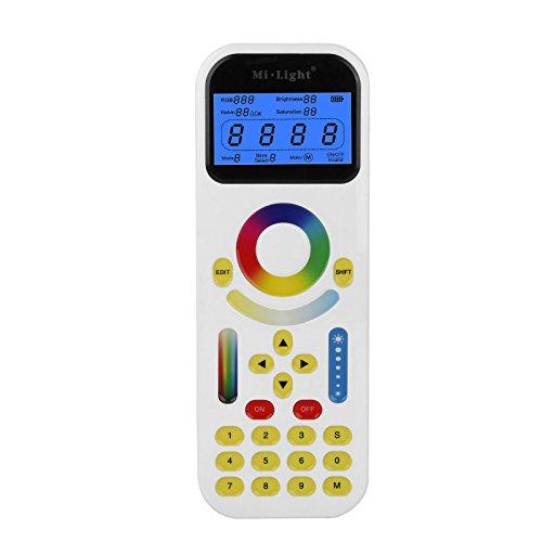 Global 2.4GHz Mi Licht LED Fernbedienung mit LCD Bildschirm Max 99 Zonen für Track Streifen Beleuchtung (Die Einzelne Zone, Lcd)