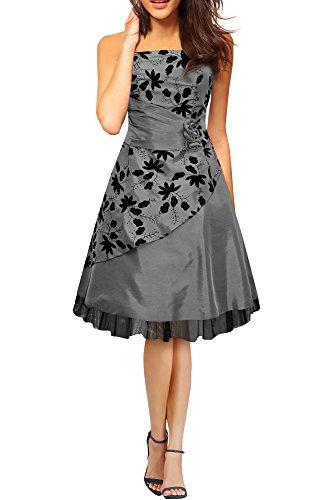 Black Butterfly 'Sia' Vestido De Gala De Satén Essence (Plata, ES 46 - XXL)