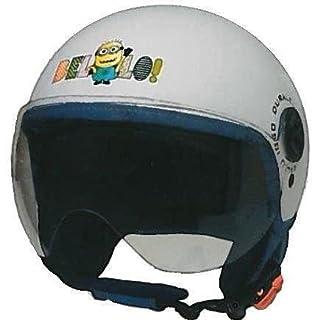 Helm Moto duraleu Kinder Minions Bello Weiß Größe S