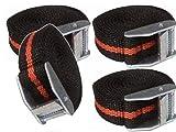 Pack de 10correas de amarre con hebilla Cam techo accesorio de remolques de carga 25mm x 2500mm de largo