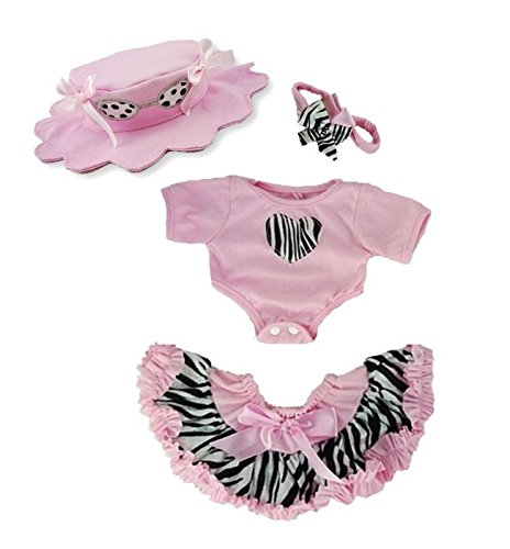Zebra and Pink Outfit Teddy Bear Clothes fit 15in Build a (Zebra Outfit)