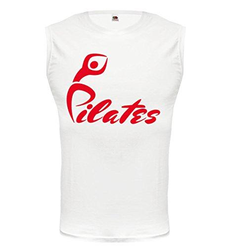 Tank Top Pilates-XXL-White-Red