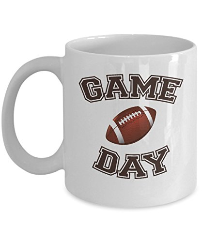 Game Day Coffee & Tea Gift Mug, College Football Novelty Gifts for Mens, Mom of a Player, Coach, Fan or Lover and Team Member (Team-dress Up Ideen)