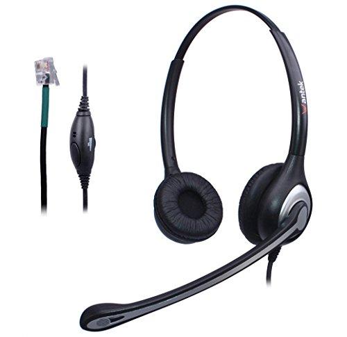 Wantek téléphone Call Centre filaire casque avec micro avec suppression de  bruit et de volume Mute Control pour Avaya 1408 6402d Allworx 9112 NEC