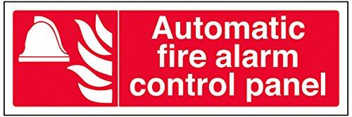 vsafety 13067ax-g Fire Equipment, Schild,Automatischer Fire Alarm Control Panel, Kunststoff, Landschaft, 300mm x 100mm, rot Alarm-control-panel