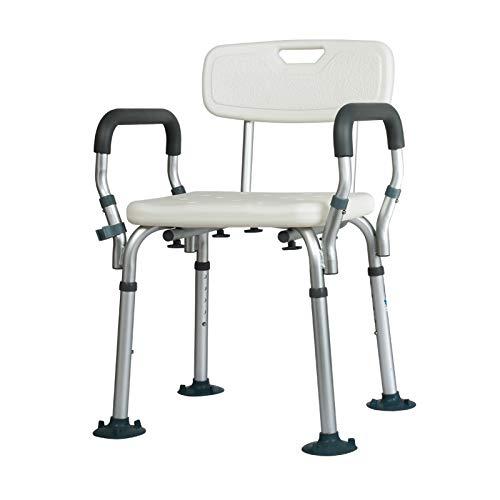 WG Toilettensitz Stuhl Ältere Menschen Bad Dusche mit Armlehnen Rückenlehne Toilettenstühle Duschstuhl Schwangere Frauen Spa Bank Bad Stuhl,C - Stuhl Dusche Menschen Für ältere