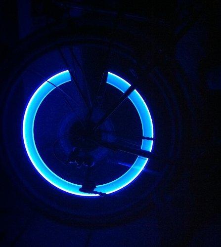 RBrothersTechnologie 2 Stück LED Ventilkappen Radbeleuchtung Licht Felgenlicht Tuning Auto BLAU