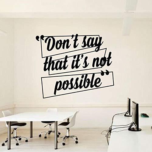 Büro Wandtattoo Idee Teamwork Business Arbeiter inspiriert Wand Dekor Zitate Motivation Interieur Wandbild Vinyl Wandaufkleber 57X68 cm -