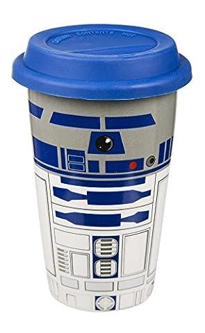 Star Wars - R2D2 - Thermobecher aus Porzellan | Füllmenge 450 ml | Offizielles Merchandise