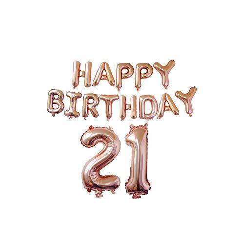 llons mit Goldenem Konfetti für Geburtstag, Hochzeit, Party, Dekoration, 21st Birthday Set ()