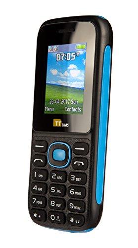 TTsims Smartphone portable débloqué GSM (Ecran: 1,8 pouces - Double SIM - Linux) Bleu