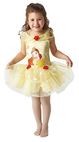 Mädchen Disney Belle Schönheit Tutu Ballerina Prinzessin Büchertag Kostüm Kleid Outfit - Gelb, Gelb, 18-24 (Ballerina Belle Kostüme)