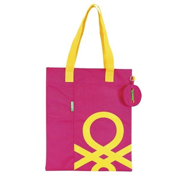 e8e6a8ee5 Ofertas para comprar online Bolso tote Benetton (Bolso shopping, color rosa  (Safta 611352693))