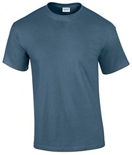 Gildan Herren Ultra Cotton T-Shirt Kurzärmlig Blau - Blau