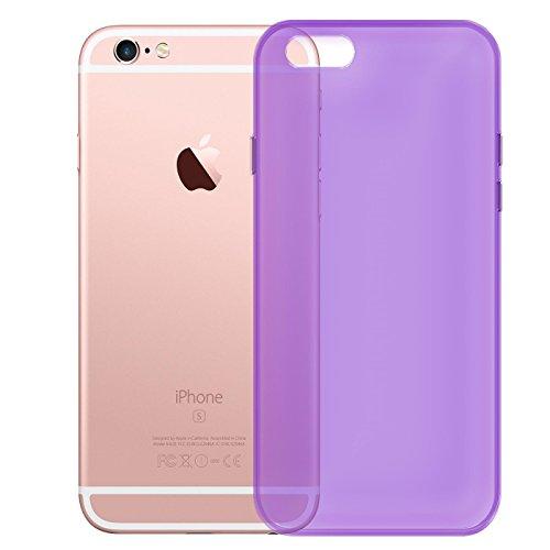 Apple iPhone 6S 6 Hülle Case, Conie Liquid Crystal Ultra Dünn Crystal Clear Transparent Handyhülle Cover Soft Premium-TPU Durchsichtige Schutzhülle Backcover Slimcase für Apple iPhone 6S 6 Lila