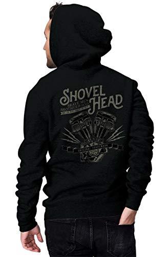 Rebel on Wheels Zip Hoodie Shovel Head Schwarz L